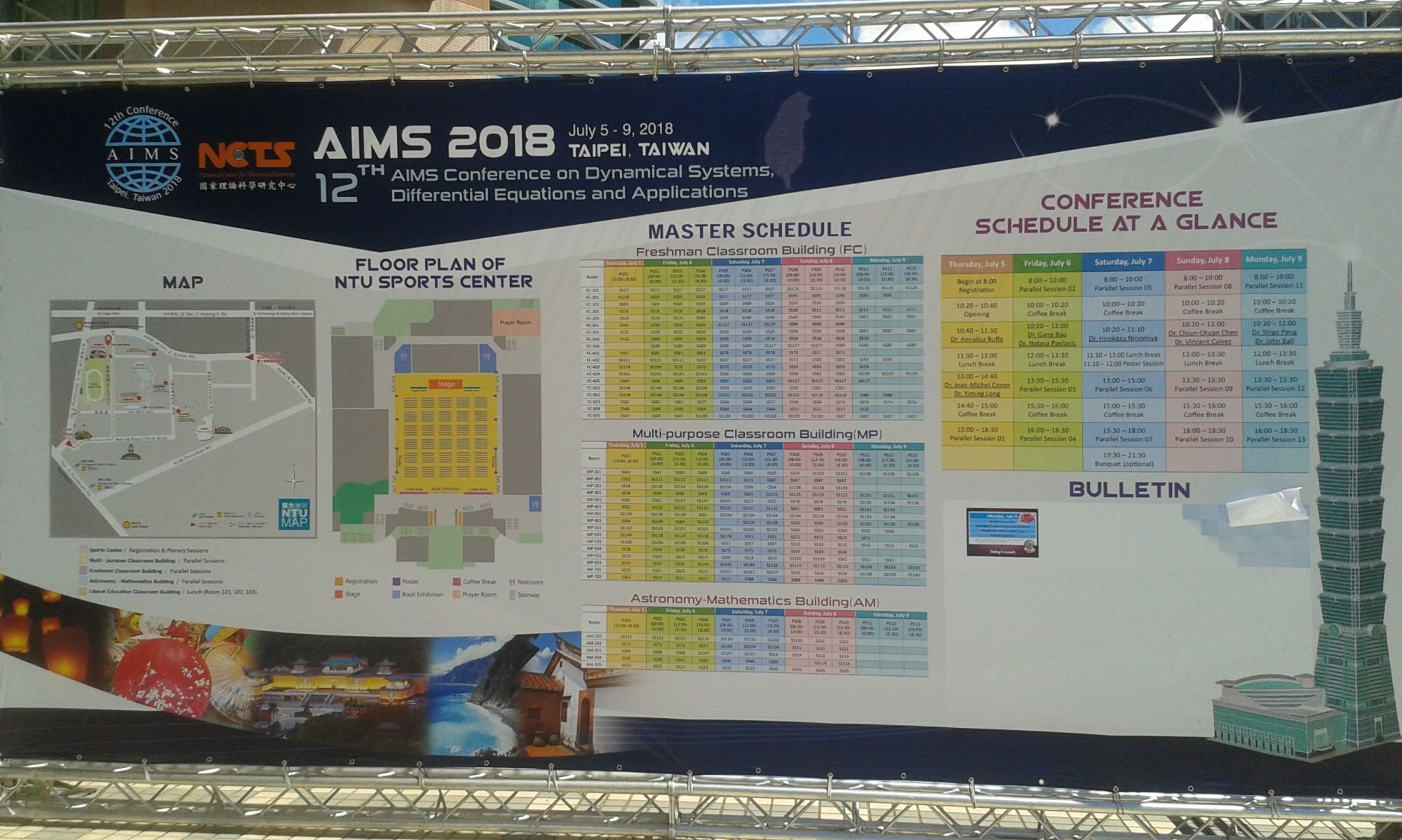 AIMS Conference schedule at a glance